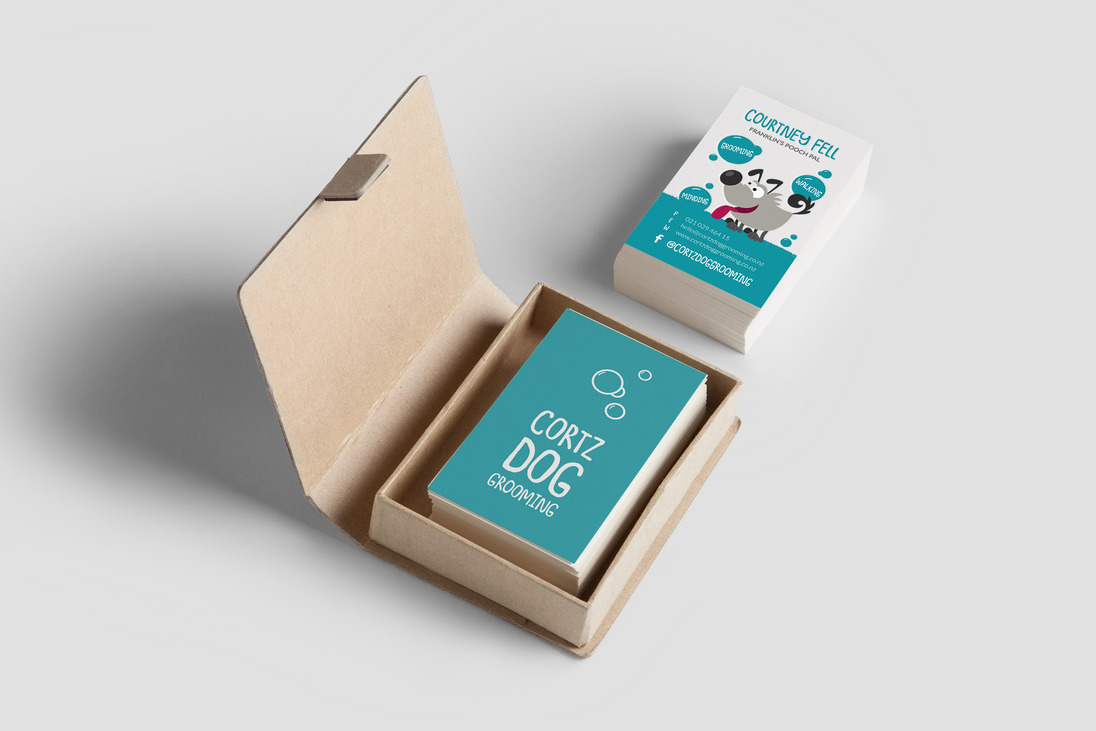 Business Card Design for Cortz Dog Grooming