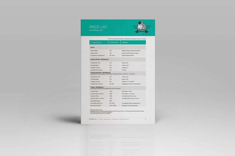 Document Design for K9 Cadets