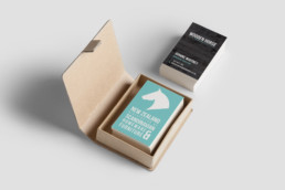 Business Card Design for Wooden Horse Homewear