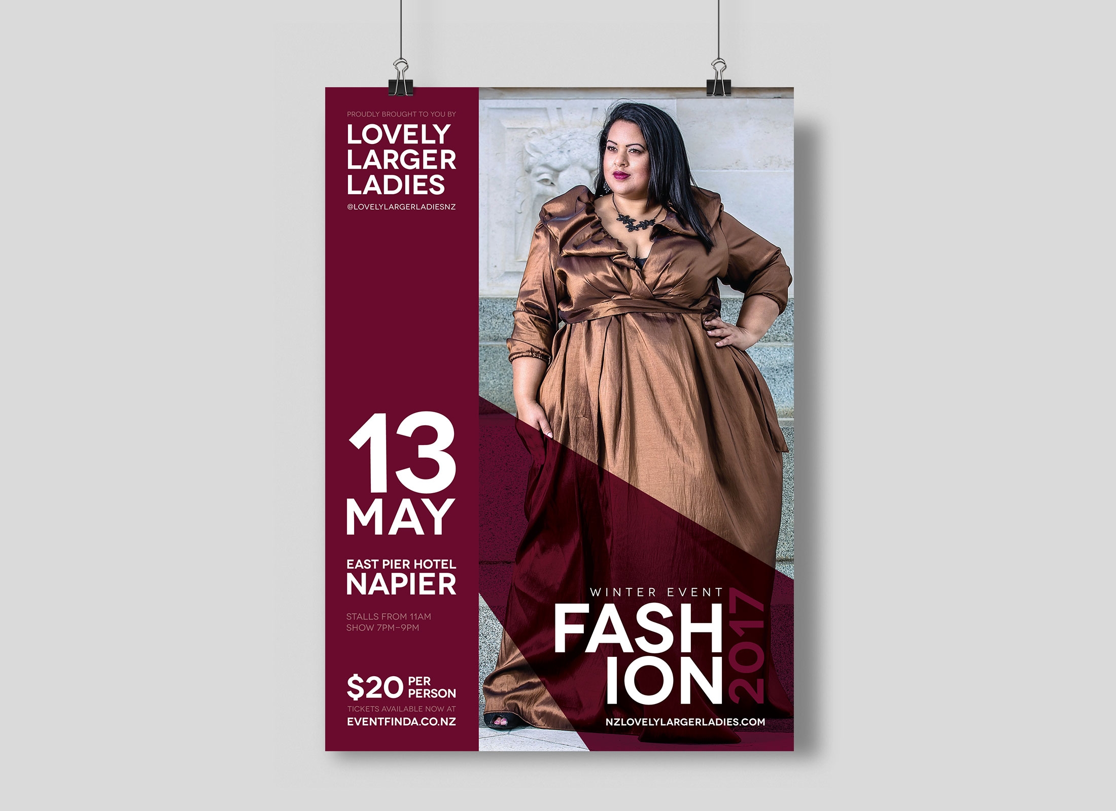 Poster design freelance - Poster Design For Lovely Larger Ladies Nz